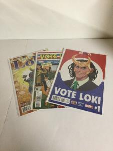 Vote Loki 1-3 Lot Set Run Nm Near Mint Marvel Comics