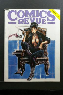 Comics Revue #44 1990 Modesty Blaise Cover