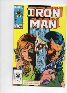 IRON MAN #203, VF/NM Tony Stark, the Maze, 1968 1986, more IM in store, Marvel