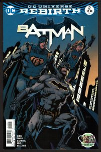 Batman #2 Rebirth (Sep 2016, DC) 0 9.2 NM-