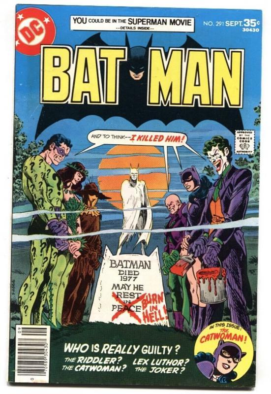 Batman #291 Rogues Gallery-Mark Jewlers variant  VF