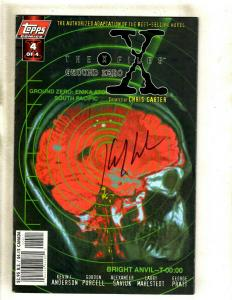 The X Files Ground Zero # 4 VF/NM Topps Comic Book SIGNED Kevin Anderson J372