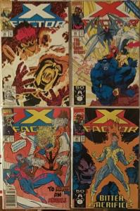 X-FACTOR MARVEL 8 BOOK LOT. F/NM CONDITION