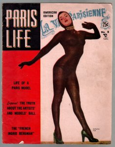 Paris Life #8  9/1952-Charlton-cheesecake-Catherine Fath-showgirls-VG/FN