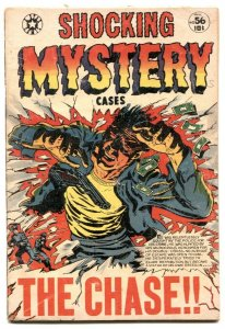 Shocking Mystery Cases #56 1953- WILD LB COLE COVER- G/VG