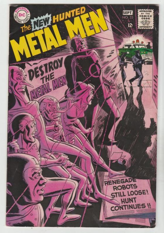 Metal Men #33 (Sep-68) VF High-Grade Metal Men (Led, Tina, Tin, Gold, Mercury...