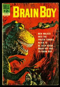 Brain Boy #3 1962- Dell Comics- Dinosaur cover- G