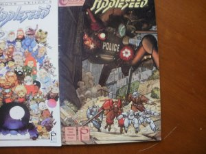 3 MANGA Comic: Masamune Shirow's APPLESEED #1 #2 (Databook) & Book Two Volume 4