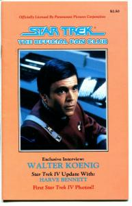 Star Trek Official fan Club Guide-#49 4/1986-Walter Koenig-VF