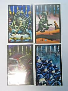 Aliens Hive set #1 to #4 6.0 FN 4 different books (1992)