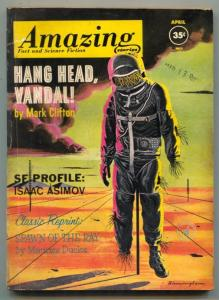 Amazing Stories April 1962- Asimov- Hang Head Vandal VG