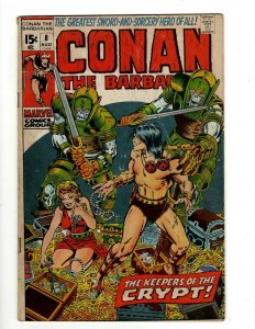 Conan The Barbarian # 8 FN Marvel Comic Book Barry Smith Kull King Sword NP16