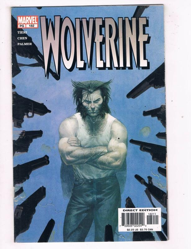 Wolverine (1988 1st Series) #182 Marvel Comic Book Mafia Funerals Wedding HH3