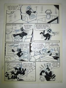 LA ZORRA Y EL CUERVO (FOX & THE CROW) VF/+ Mexican Comic art 9 pgs b&w COMPLETE
