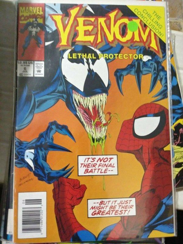 VENOM- LETHAL PROTECTOR   #6  1996 marvel  MINI SERIES +SPIDER MAN