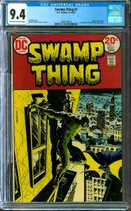 Swamp Thing #7 CGC Graded 9.4 Batman appearance