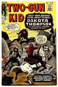 TWO-GUN KID #74 1965-MARVEL-WESTERN-KIRBY-DAKOTA THOMPSON