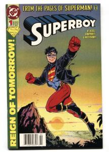 SUPERBOY #1 comic book 1994-First appearance of Knockout.
