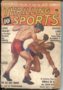 Thrilling Sports 2/1937-boxing-Jack Dempsey-Joe DiMaggio-Kid McCoy-G
