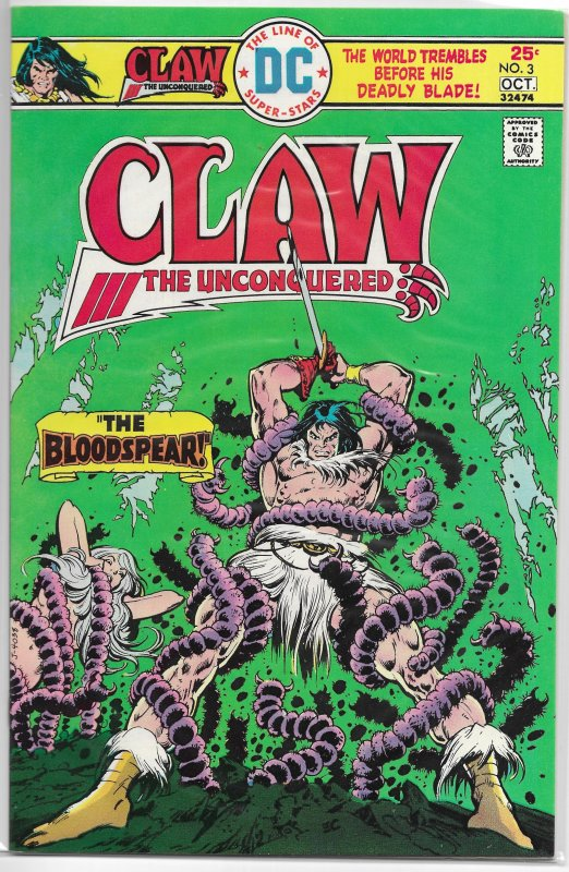 Claw the Unconquered (vol. 1, 1975) #3 VF/NM Michelinie/Chan