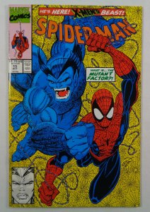 Spider-Man #15 VF/NM Beast Front/Back Cover Photos Marvel 1991