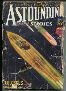 ASTOUNDING STORIES 01/1934-STREET & SMITH-SCI-FI PULP THRILLS-SPACE SHIP-fr