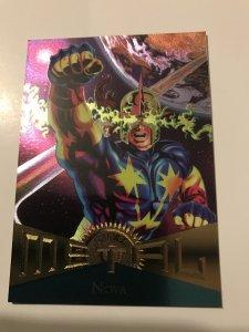 NOVA #67 card : Marvel Metal 1995 Fleer Chromium; NM/M New Warriors, X-Men base