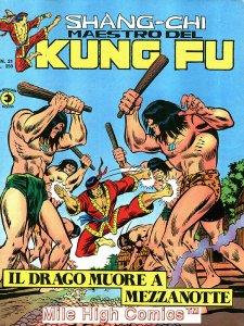 SHANG-CHI MAESTRO DEL KUNG FU MAGAZINE ITALIAN (1975 Series) #21 Very Fine
