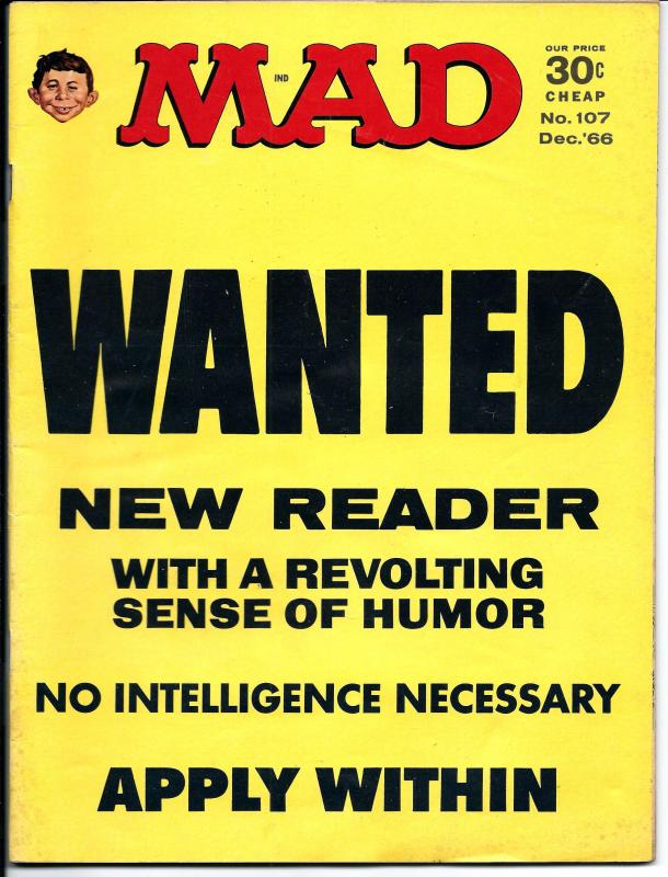 Mad No. 107, , Dec, 1966 (VF)