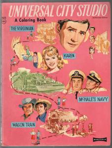 Universal City Studio Coloring Book #9576-1964-Virginian-McHale's Navy-G/VG
