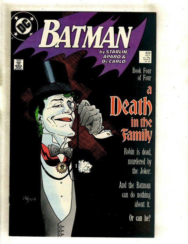 Batman # 429 NM DC Comic Book Death Of The Family Joker Robin Gotham Ivy HJ9