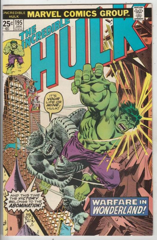 Incredible Hulk #195 (Jan-76) VF/NM+ High-Grade Hulk