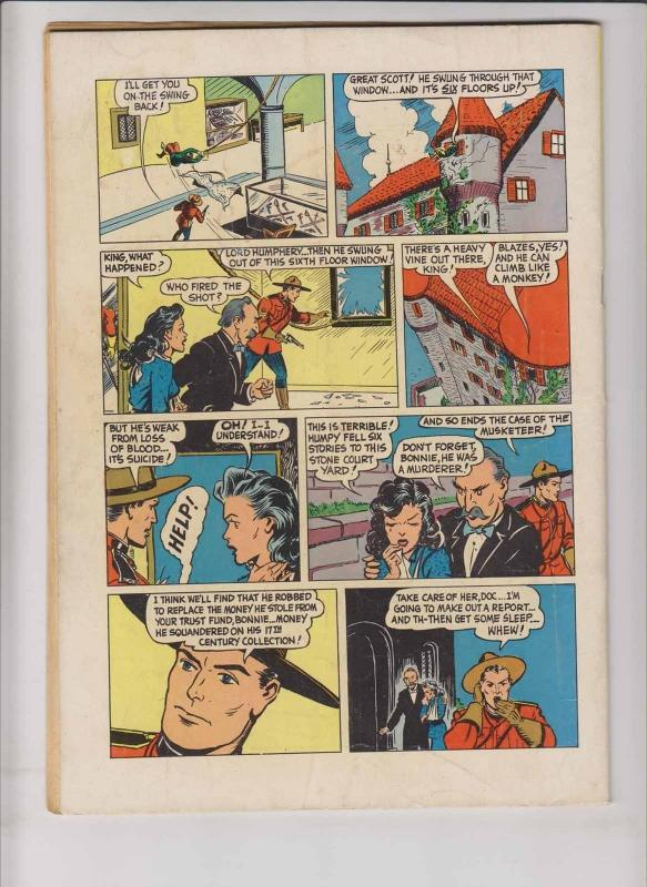 Four Color #310 FN- zane grey's king of the royal mounted - dell comics 1950