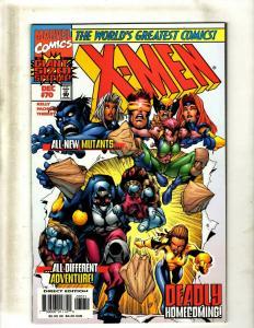 Lot of 12 X-Men Marvel Comic Books #70 71 72 73 75 76 77 78 79 80 81 82 EK5