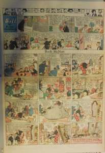 Boob McNutt Sunday by Rube Goldberg from 3/23/1930 Large Rare Full Page Size!