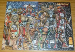 Extreme Sacrifice #1-2 VF/NM complete series in bags with cards - youngblood set
