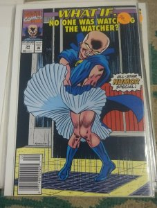 What If...? # 34 1991  Marvel   HUMOR ISSUE NO ONE WAS WATCHING THE WATCHER
