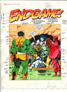Justice Machine #25 Page #1 1989 Original Color Guide Splash Page