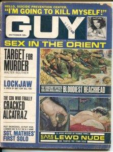 Guy 10/1965-Pyramid-Tarawa-suicide-Alcatraz escape-cheesecake pix-exploitation-V