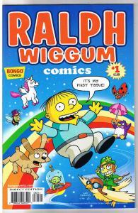 RALPH WIGGUM #1, NM-, Police child, Bart Simpson, Matt Groening, Bongo, 2012, FT