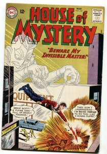 HOUSE OF MYSTERY #132-BEWARE MY INVISIBLE MASTER-1963-FN/VF