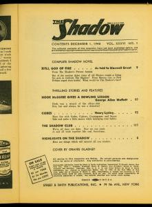 The Shadow Pulp December 1 1940- Xitil God of Fire- Reading Copy
