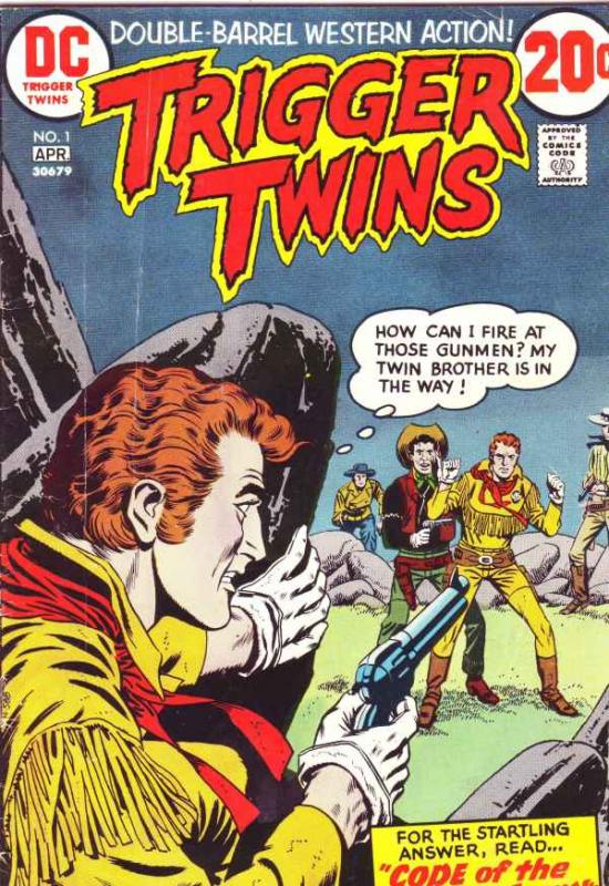 Triger Twins #1 (Apr-73) VG/FN Mid-Grade Pow-Wow Smith, the Trigger Twins
