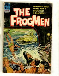 9 Dell Comic Books Frogmen # 4 Four Color # 54 409 470 563 579 647 697 755 JK2