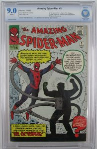 Amazing Spider-Man #3 - 1963 - CBCS 9.0 (VF/NM) 1st Appearance of Dr. Octopus
