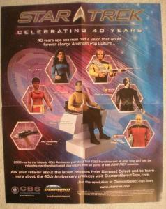 STAR TREK 40 YEARS Promo poster, 16x20, 2006, Unused, more Promos in store