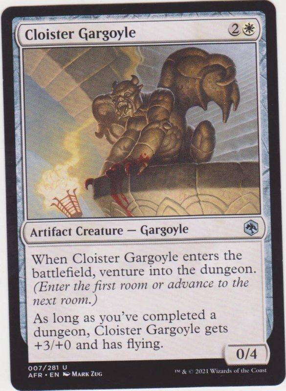 Magic the Gathering: Adventures in the Forgotten Realms - Cloister Gargoyle