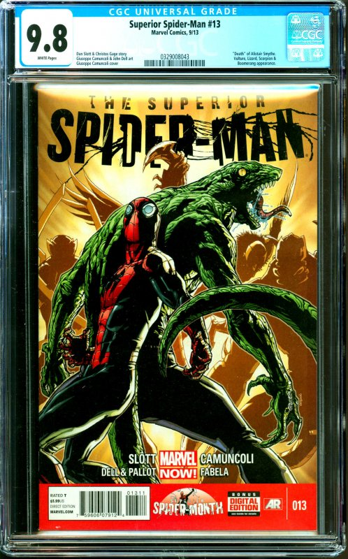 Surperior Spider-Man #13 CGC Graded 9.8 Death of Alistair Smythe