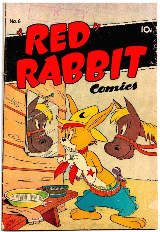 RED RABBIT #6 (Spring 1948) • Funny Animals! - Great Harvey Eisenberg Art!
