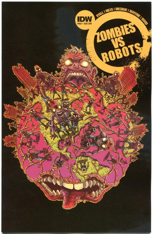 ZOMBIES vs ROBOTS #3, NM, Horror, IDW, Walking Dead, 2015, more in store
